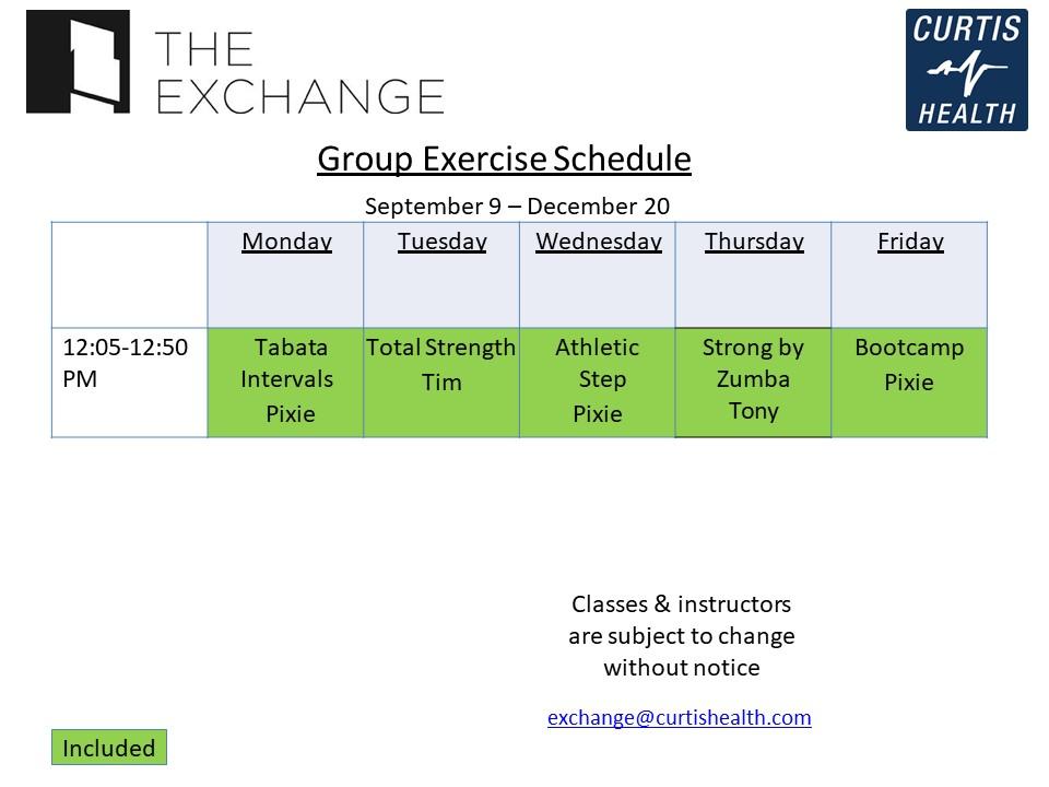 Exchange Hotel - Fitness Classes